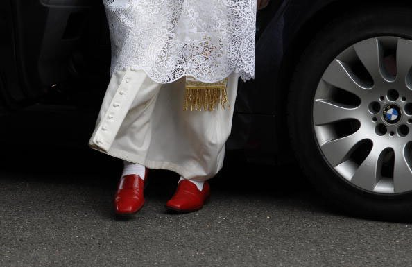 Pope Wears Red Shoes