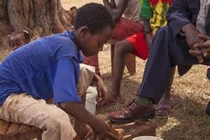 Shoe Shine boy in Ethiopia