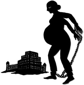 Prisoners pregnant and shackled