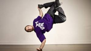 feet in the air - breakdancer