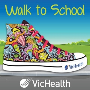 Walk to school logo for Aussie campaign