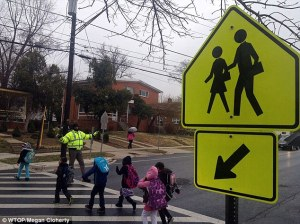 walking to school former NBA crossing guard