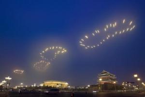 Metaphor China 2008_Footprints_Olympics_Fireworks_