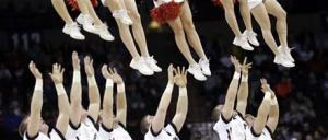 Feet in the air Sports cheerleaders Cincinnati