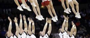 Feet in the air Sports cheerleaders Cincinnati