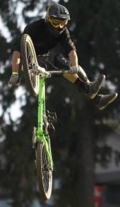 feet in the air Sports mountain biking