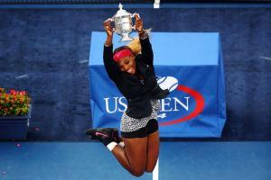 Feet in the air Sports tennis Serena Williams 2014